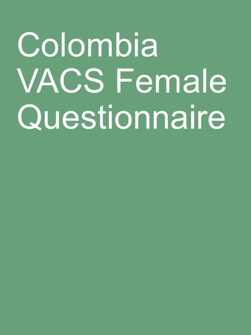 Colombia VACS Female questionnaire