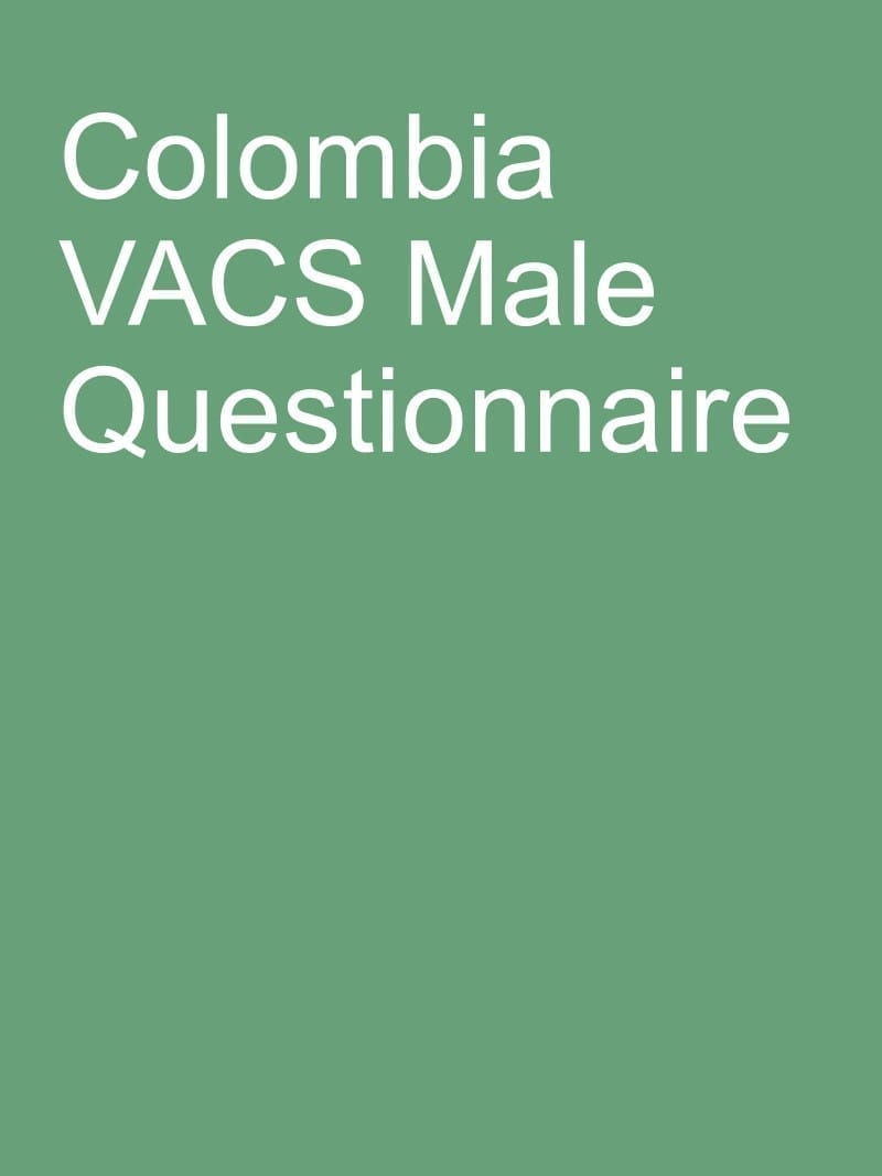 Colombia VACS Male Questionnaire
