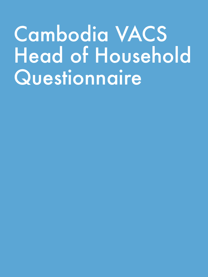 Cambodia VACS Head of Household Questionnaire